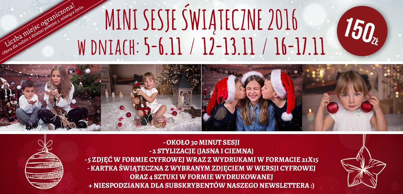 Mini Sesje Świąteczne, Boże Narodzenie 2016